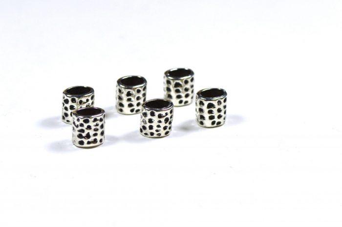 silver dotted dreadlock beads dreadlock accessories CrafterElena