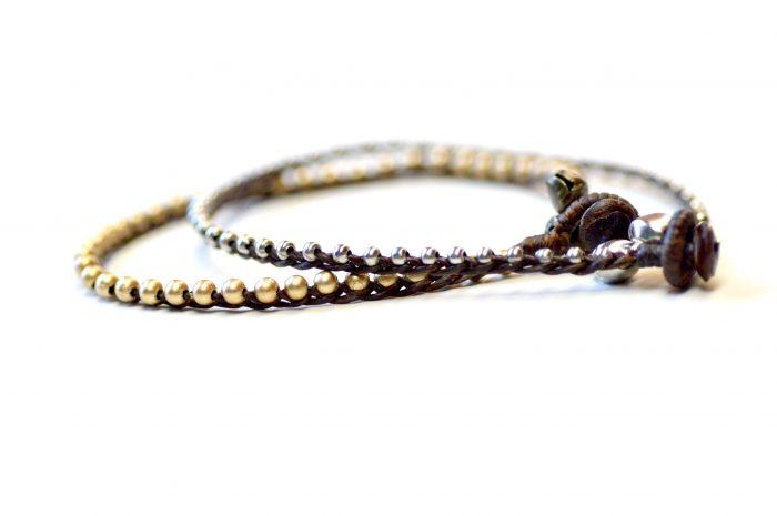 Ankle Bracelet bells gold & silver