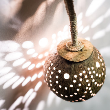 Coconut Lantern Hanging Lamp