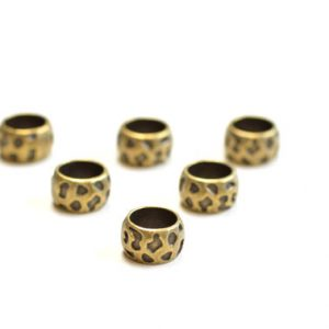 antique bronze dread beads