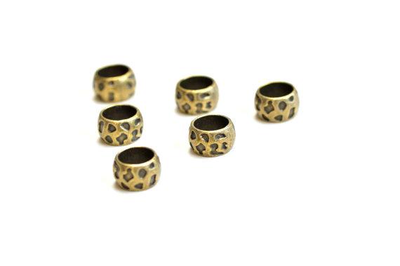 antique bronze dread beads