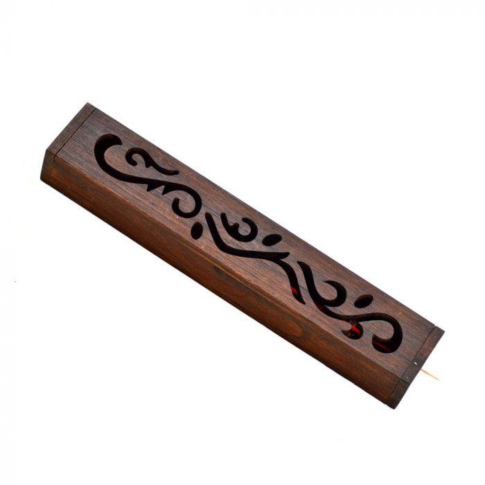 Dark wood incense stick holder4