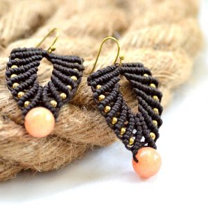 Brown Macrame earrings