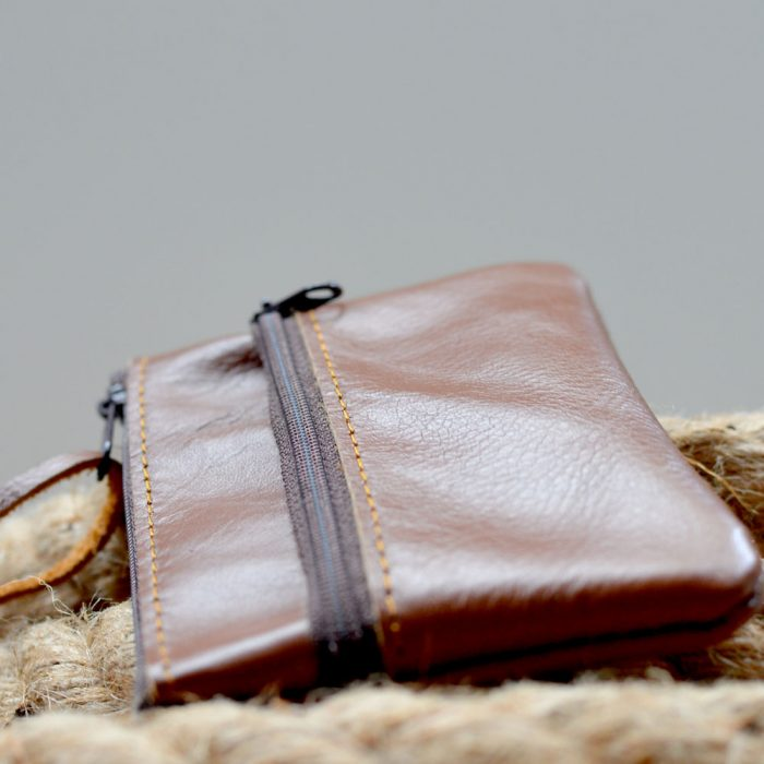 Leather Walle with zip