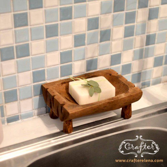 wooden Soap Dish Kitchen