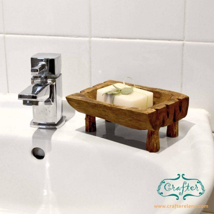 wooden Soap Dish Kitchen Bathroom