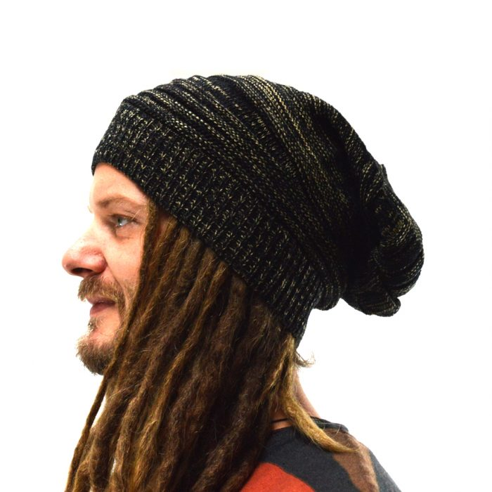 dreadlock beanie knitted black