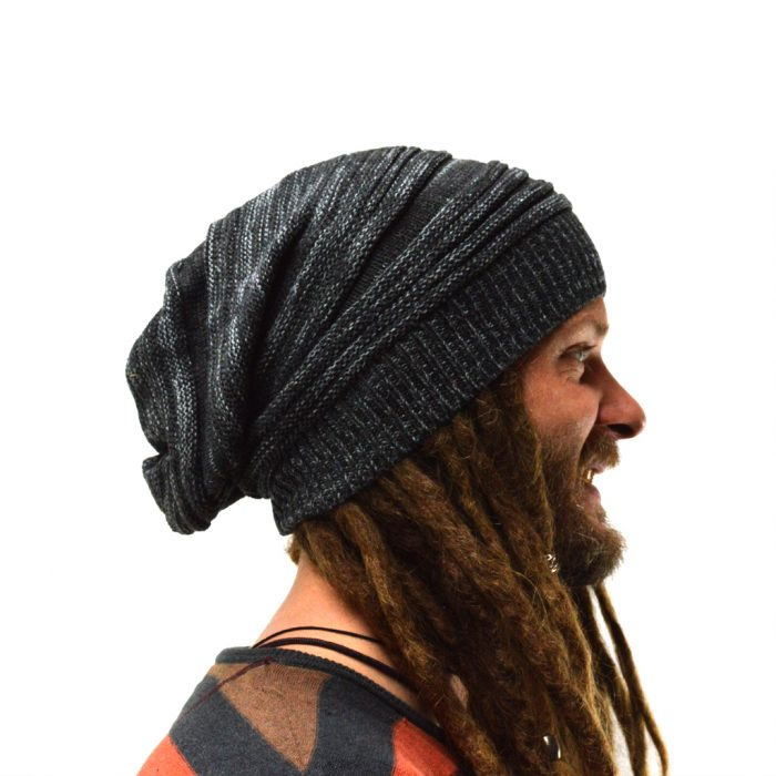 dreadlock beanie knitted grey