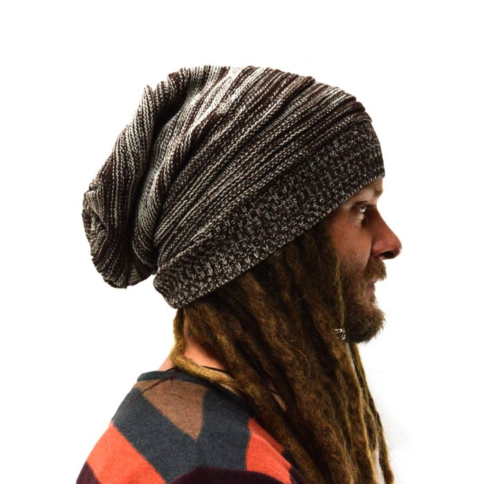 dreadlock beanie knitted brown