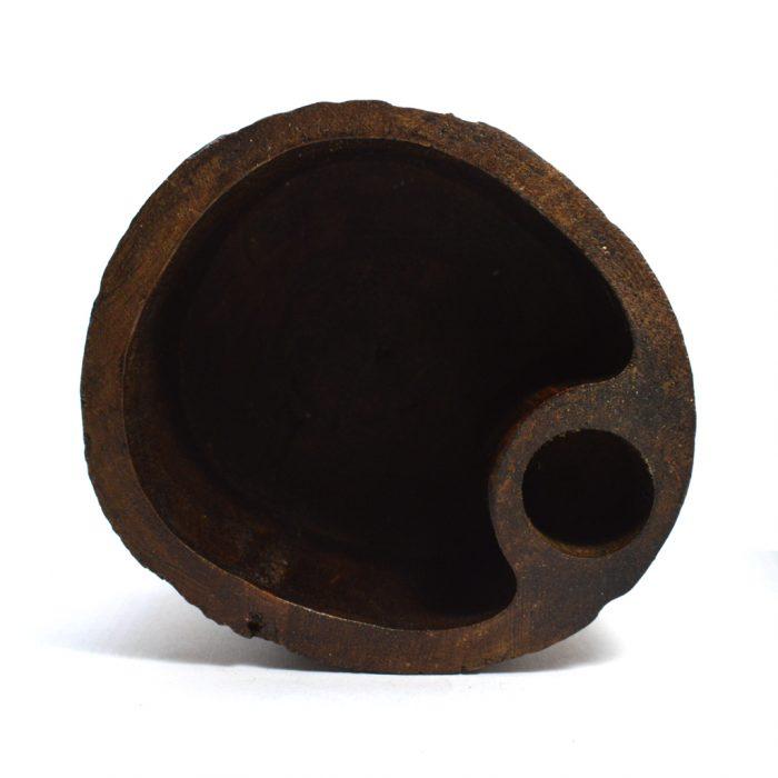 teak wood pencil pot