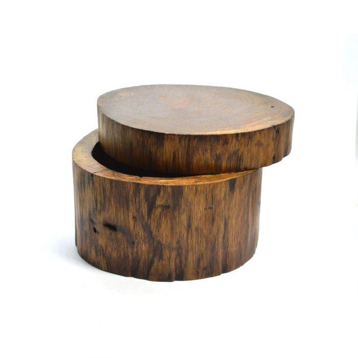 teak wood boho box
