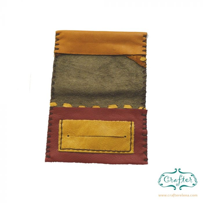 red leather tobacco pouch