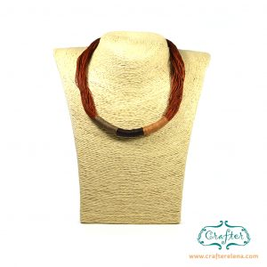 Accessories, beautiful necklace, burnt orange, brown, handmade jewellery, handmade necklace , ladies necklace, macrame necklace, macrame technique, neck accessories, handmade, present for her, threaded macrame, threaded necklace, women's accessories