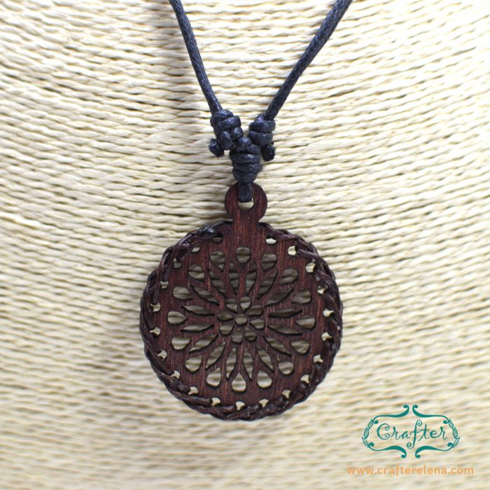 product jewelry wood necklace pendant chain morning and wooden with carved tone flower long gold fittings glory links