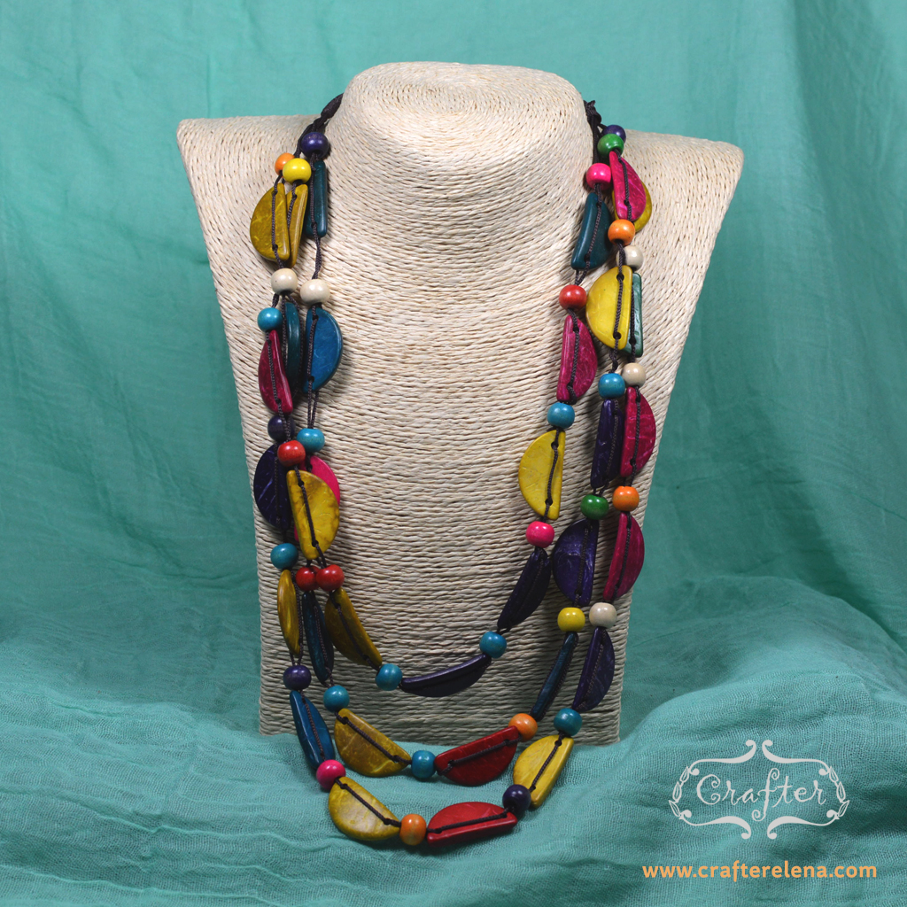 Ecofriendly Necklace Colourful Necklace Recycled Necklace Multi Strand Necklace Eco Necklace All Natural Necklace Upcycled Necklace