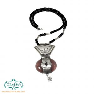 Tuareg Carnelian Tribal Talisman Necklace Pendant