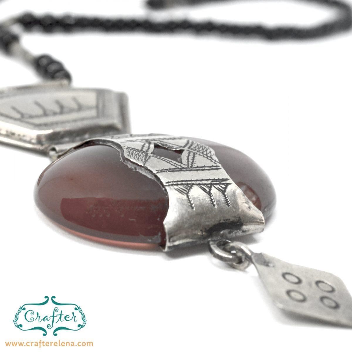 Tuareg Agate Talisman Necklace Pendant