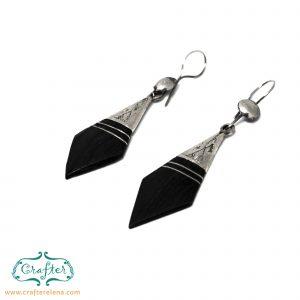 Tuareg Ebony Spear Earrings