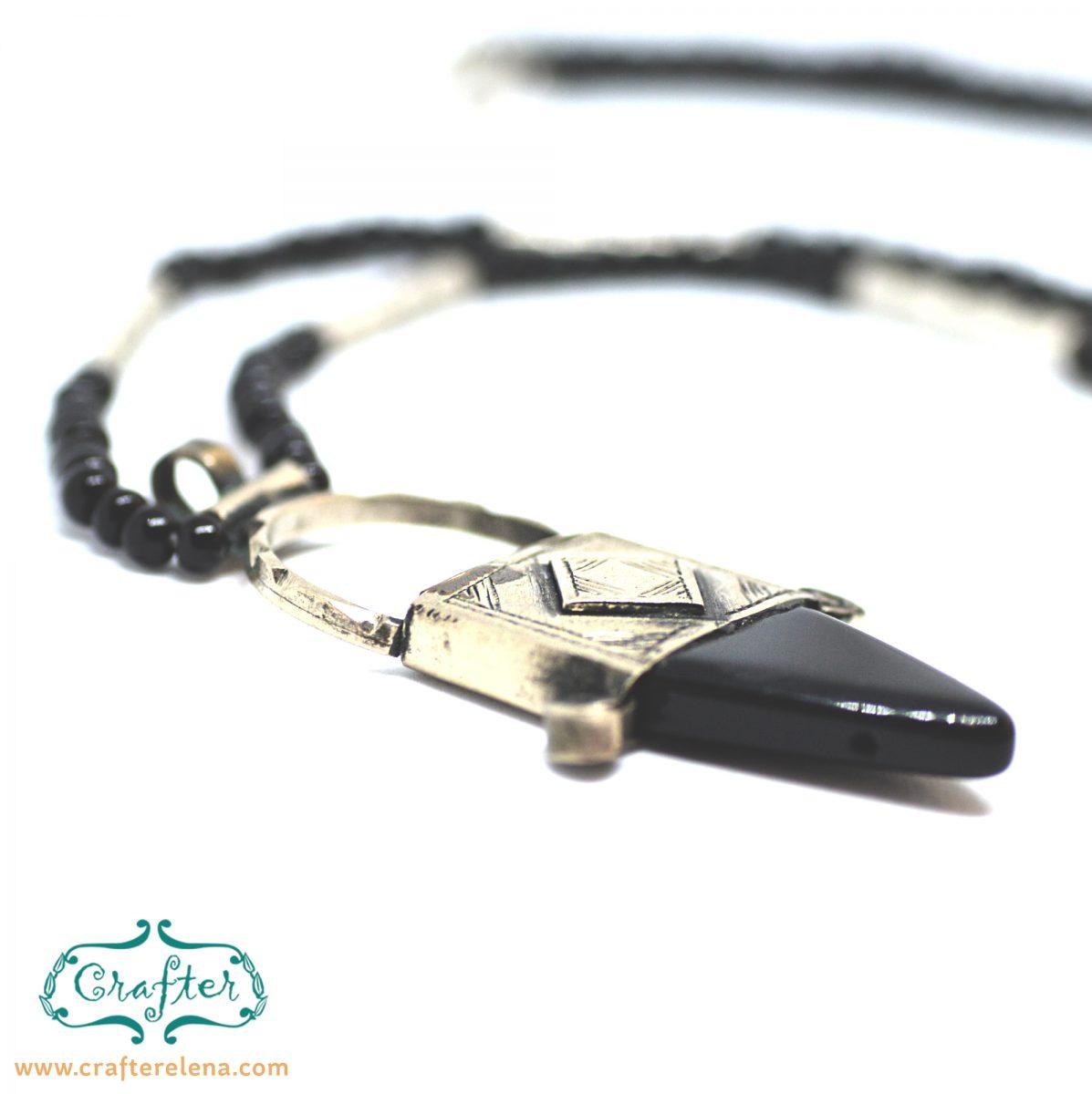 Tuareg Onyx Amulet Necklace