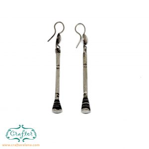 Tuareg Round Ebony Earrings