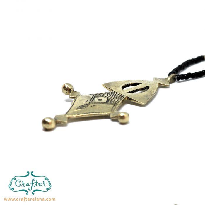 Tuareg Talisman Carved Necklace