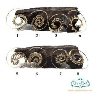India Spiral Brass Earrings