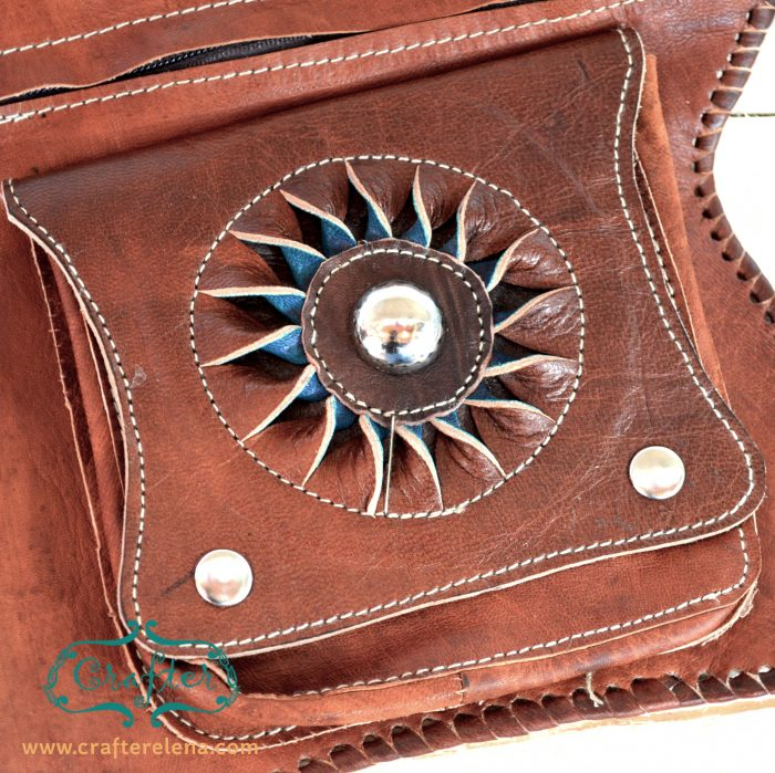 Leather pouch, leather wallet, purse, handmade