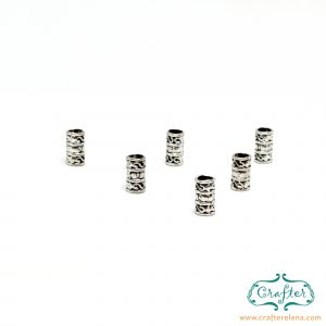 silver tribal dreadlock beads dreadlock accessories CrafterElena