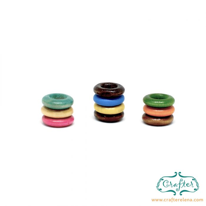 wooden color tribal dreadlock beads dreadlock accessories CrafterElena