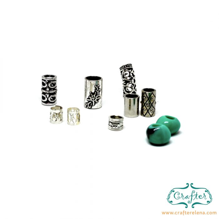 brass resin tribal dreadlock beads dreadlock accessories CrafterElena