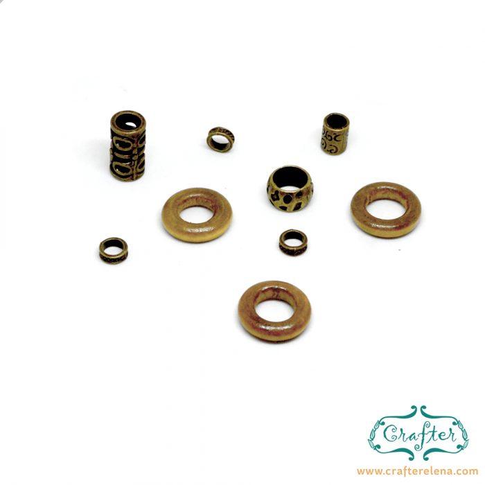 brass wooden tribal dreadlock beads dreadlock accessories CrafterElena