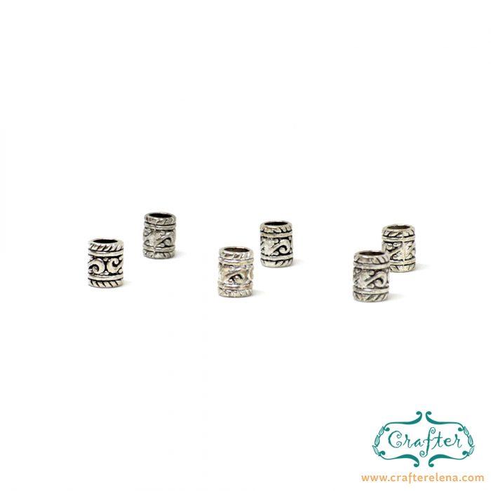 silver tribal dreadlock beads dreadlock accessories CrafterElena