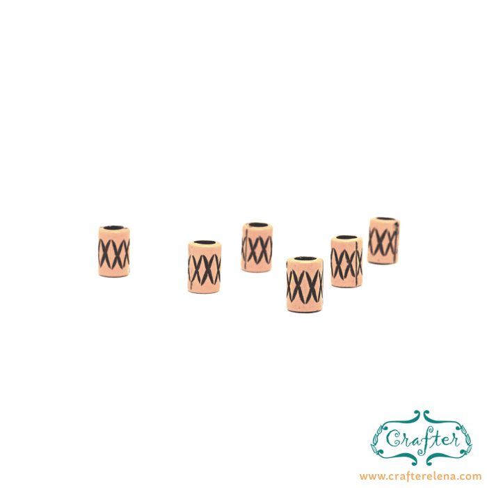 resin tribal dreadlock beads dreadlock accessories CrafterElena