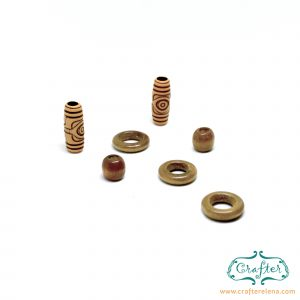 wooden color tribal dreadlock beads dreadlock accessories CrafterElena