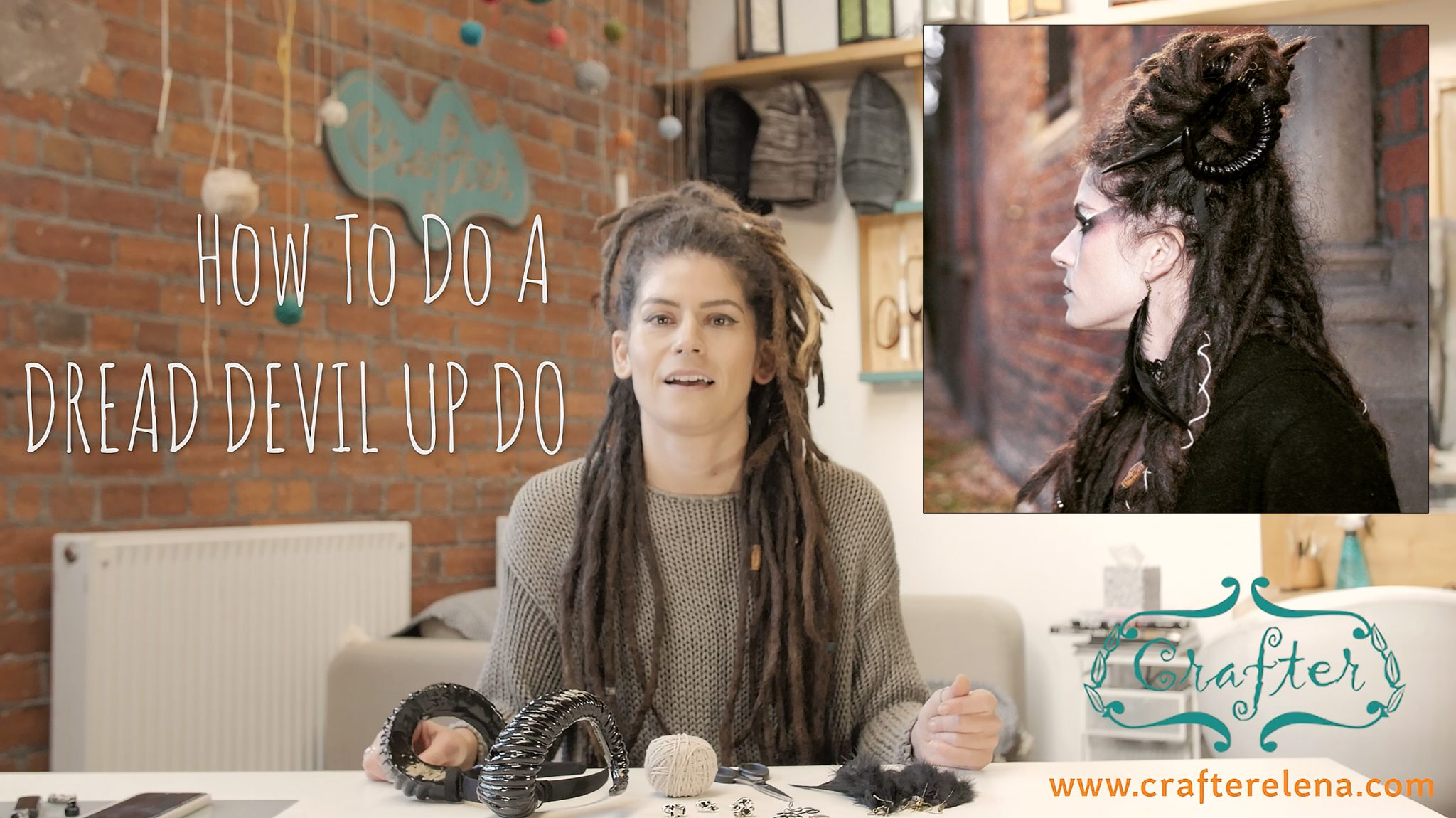Halloween Dread Devil Up Do Tutorial