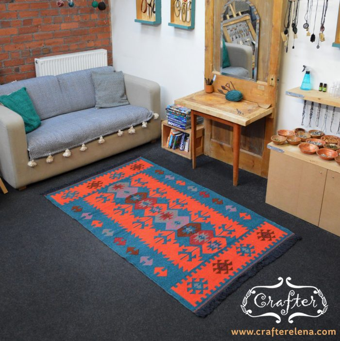 rug carpet geometric colorful