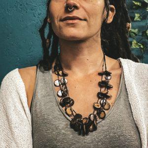 Brown coconut necklace