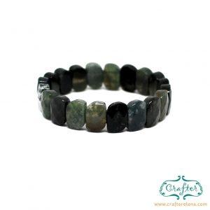 green carnelian stone bracelet