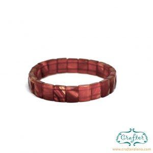 orange carnelian stone bracelet