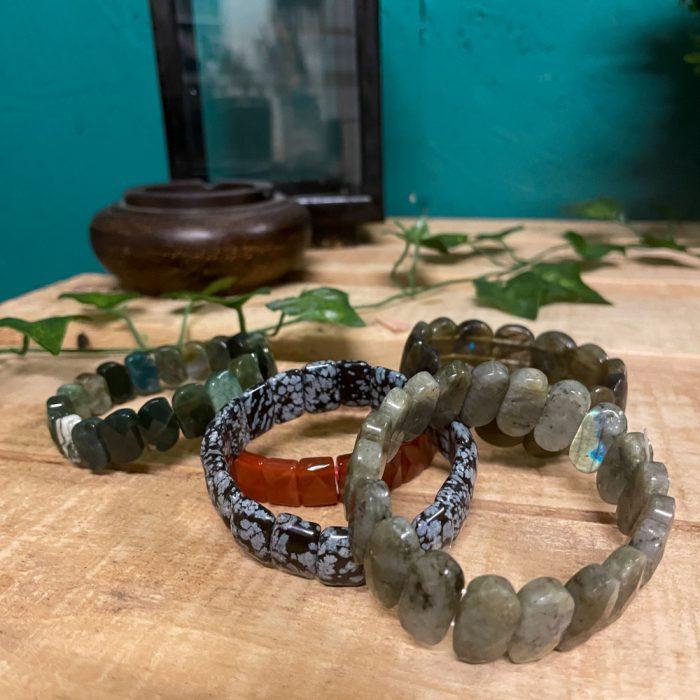 Labadorite Semi Precious Stone Bracelet