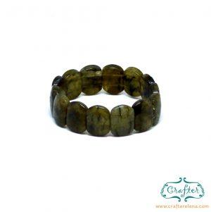labradorite green stone bracelet