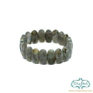 labradorite grey stone bracelet