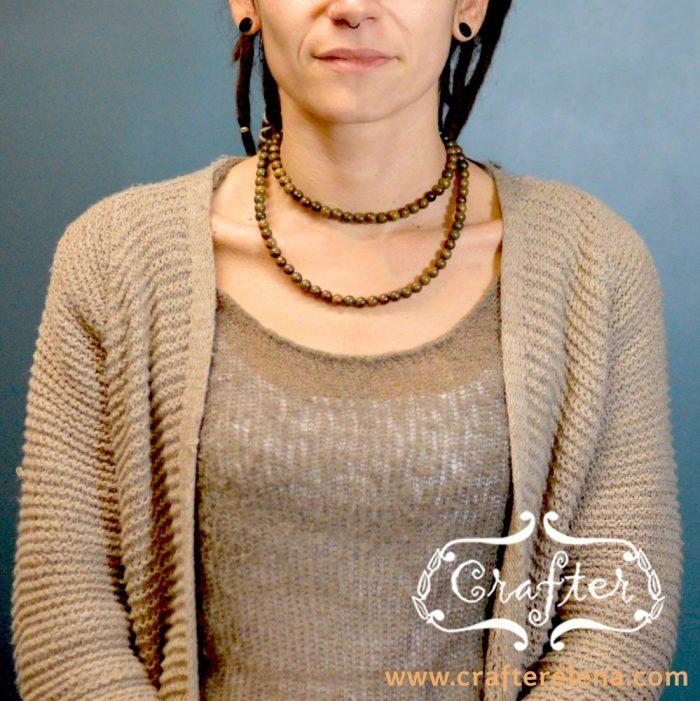 Wood Praying Rope Beads Necklace Bracelet