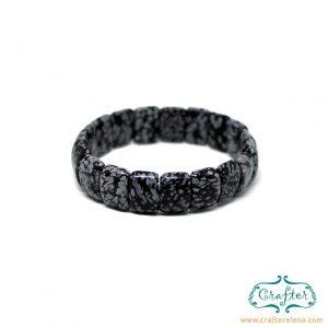 obsidian stone bracelet