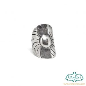 Silver Exotic Adjustable Ring