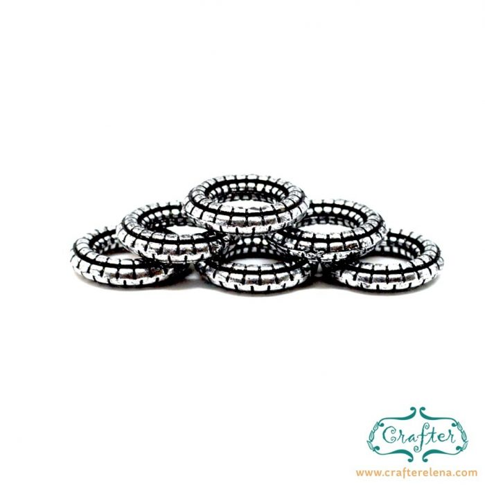 snake-rings-beads-8mm-silver-crafterelena