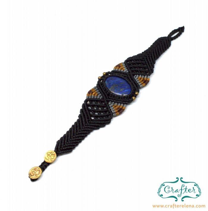 lapis-lazuli-macrame-bracelet-black-handmade-hippie