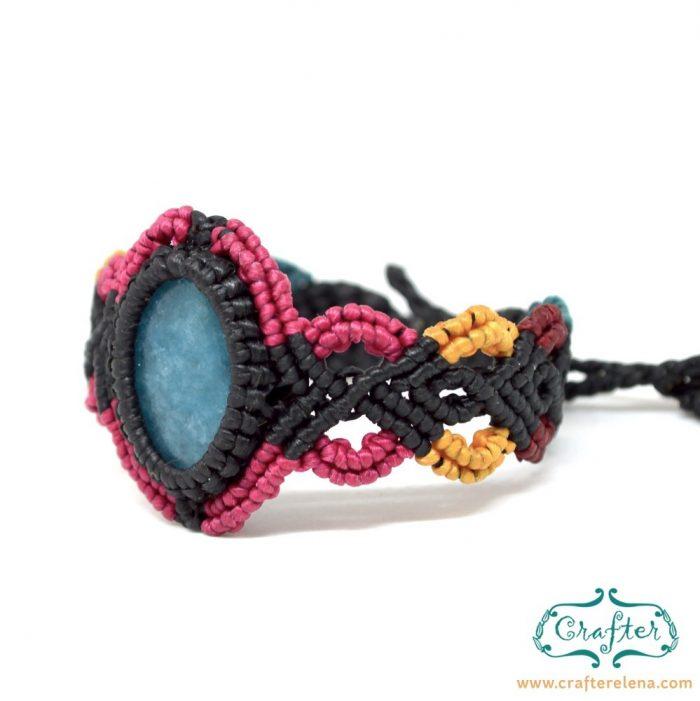 blue-jade-macrame-bracelet-black-handmade-hippie