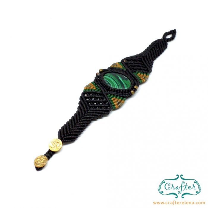 tibetan-green-turquoise-macrame-bracelet-black-handmade-hippie