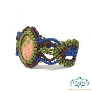 unakite-macrame-bracelet-green-blue-handmade-hippie